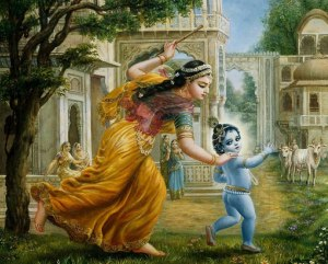 Lord-Krishna-as-a-child-being-caught-by-Mother-Yashoda